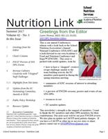 2017 Summer Nutrition Link Cover Pic