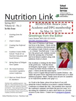 Winter 2015 Nutrition Link cover