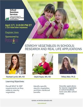 Starchy Vegetables in Schools: Research and Real Life Applications